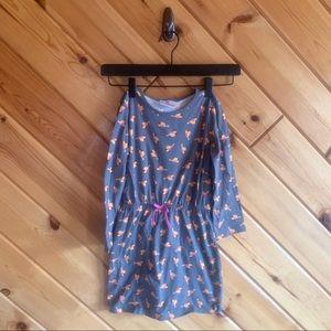 Hanna Andersson Bird Cinched Waist Dress 110 5